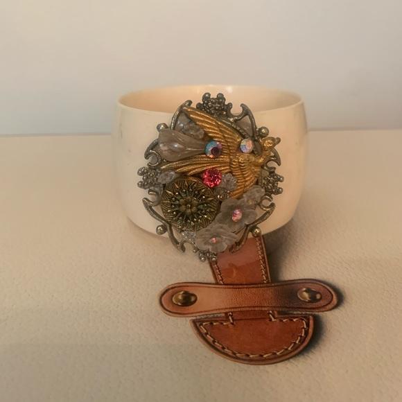 Vintage artisan cuff bracelet